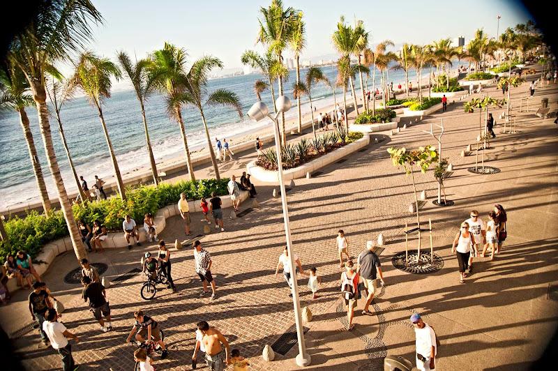 People watching on the Malecon of Puerto Vallarta.
