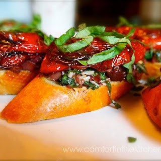 Roasted Tomato Crostini with Olive Tapenade