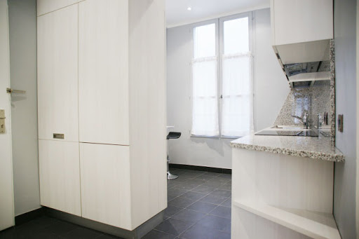 Basic kitchenette at 2 Bedroom Apartment in Louvre Near Seine