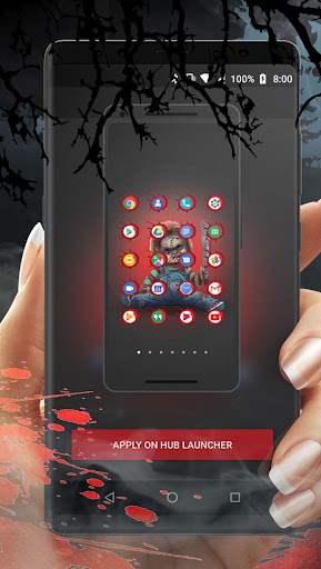 Scary Doll Halloween Theme - Wallpapers and Icons 1.0.3 screenshots 1