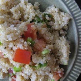 Quinoa, Tomato, Green Onion Salad