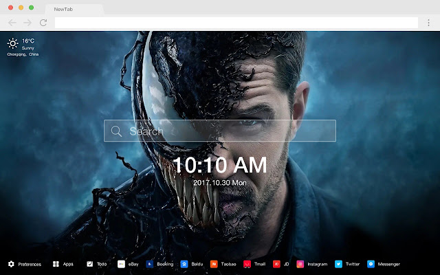 Venom HD Wallpaper Marvel New Tab Theme