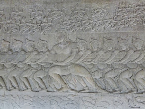 Photo: So much detail is still easy to see in this bas-relief that was made from 1113 and 1150.  There is more than 3,000 feet of this carving!  It is the longest in the world.