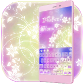 Floral Abstract-Keyboard