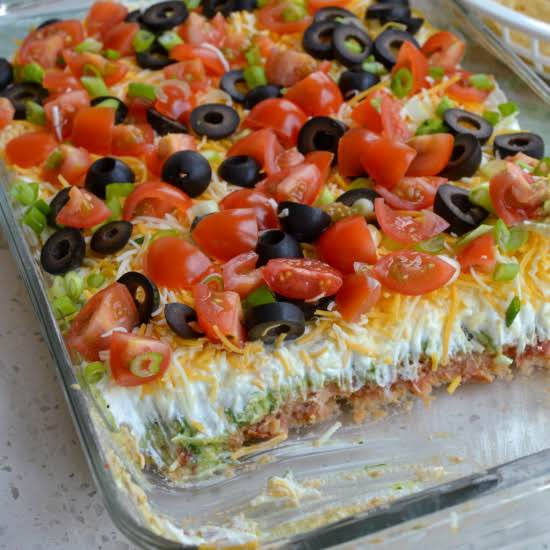 This Classic Layer Tex-mex Dip Is Always A Hit At Parties, Potlucks And Reunions. Fix A Batch For The Family For Movie Night And Watch It Disappear.