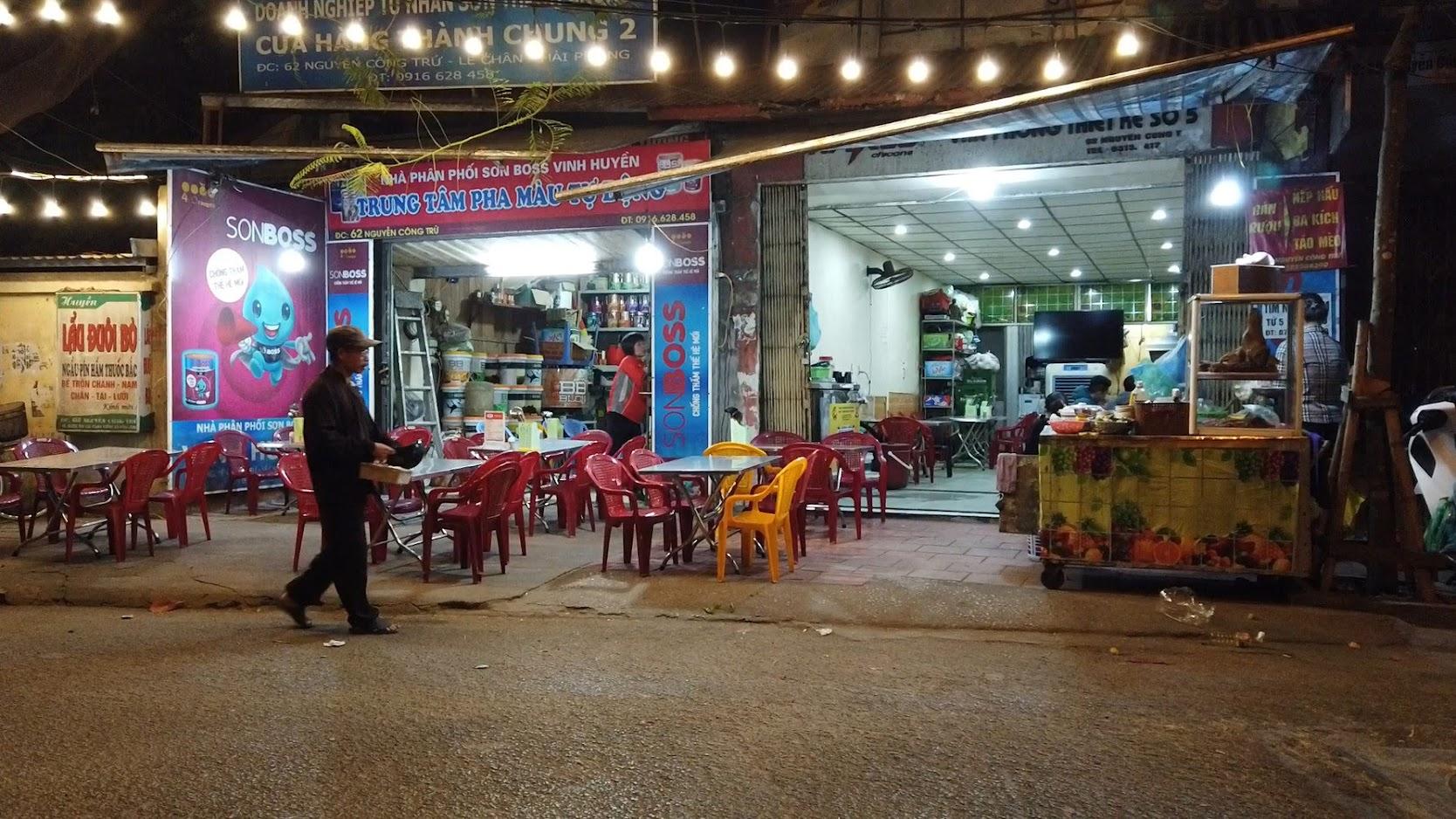 Lẩu đôi bò đường Nguyễn Công Trứ ở Hải Phòng