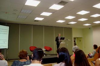 Photo: Palestra do diretor da Biblioteca Pública de Essen (Alemanha)