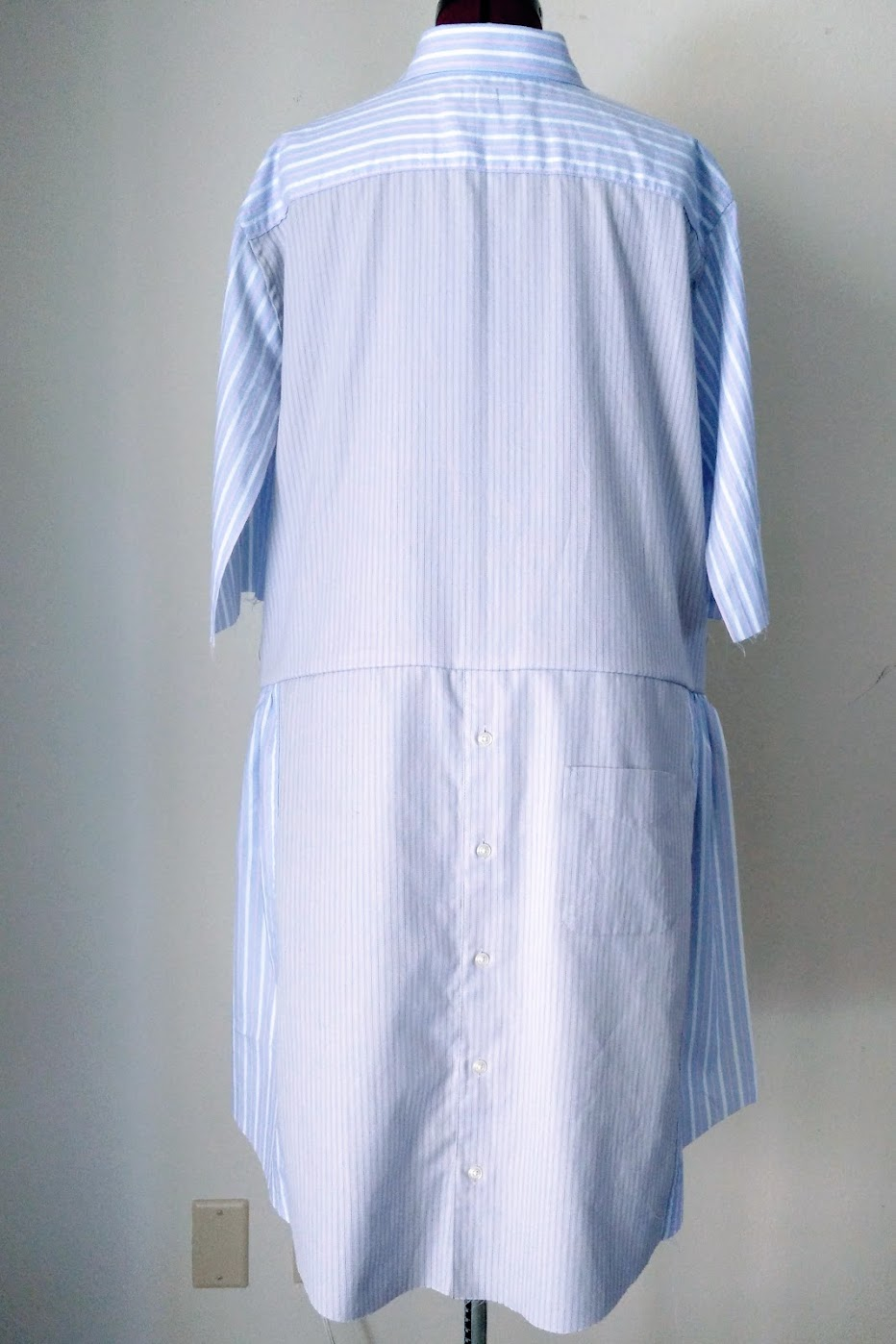 In-Progress: DIY Shirt Dress with Bow Waist Tie - DIY Fashion Garments | fafafoom.com