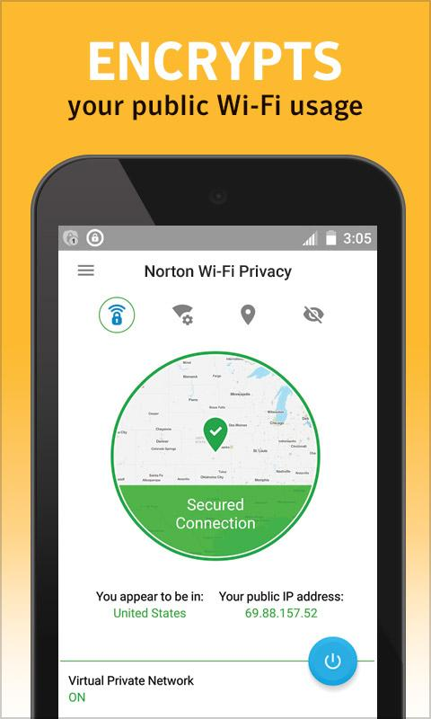 Norton WiFi Privacy Secure VPN- screenshot