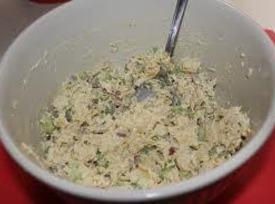 In a medium bowl, add chicken and onions. Mix to make chicken flakey. Add...