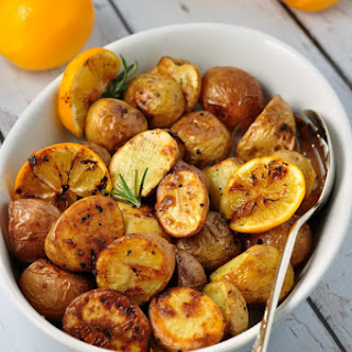 Crispy Lemon Oven-Roasted Potatoes.