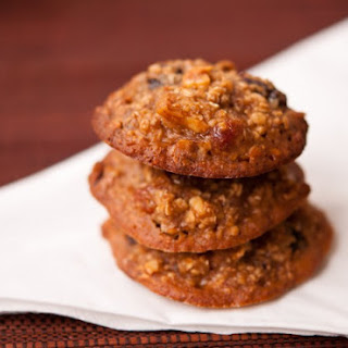 Honey Oatmeal Cookies With Dried Fruits.