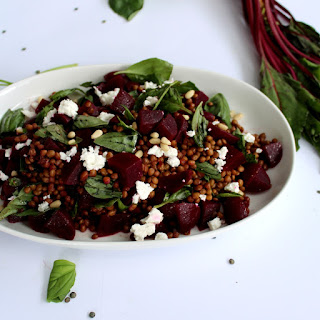 Beetroot & Lentil Salad.