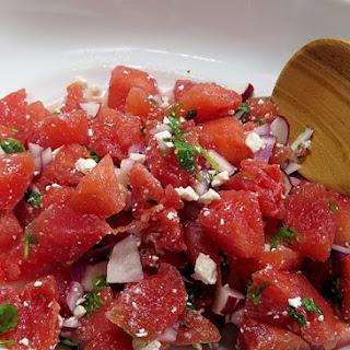 Watermelon Radish Feta Salad