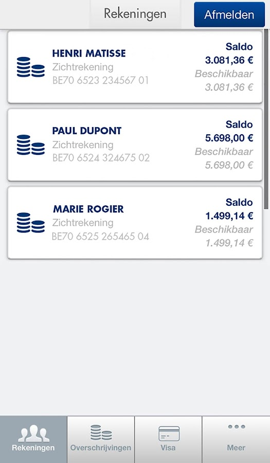 Record Bank Mobile- screenshot