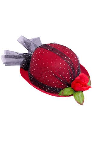 Damhatt röd flor
