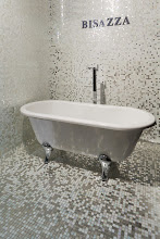 Photo: Wow... couldn't come up with more words to describe this Bisazza mosaic tile display.