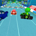 Tag with mask racing rush  Challenge the super kid icon