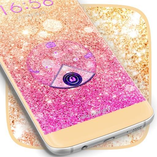 Cute Glitter Lock Screen
