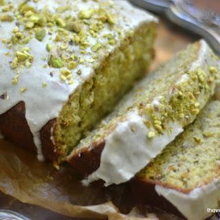 Pistachio Cardamom Pound Cake.