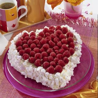 Raspberry Meringue Heart.