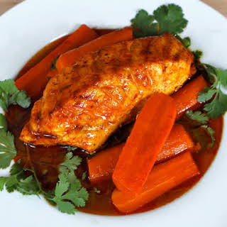 Smoked Paprika Fish with Carrots.