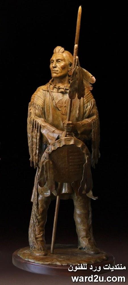 الهنود الحمر فى منحوتات النحات Barry Eisenach
