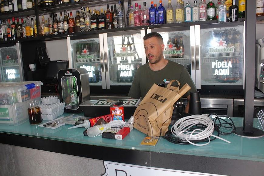 Bar Plaza Market, ubicado en la Circunvalación del Mercado Ulpiano Díaz.