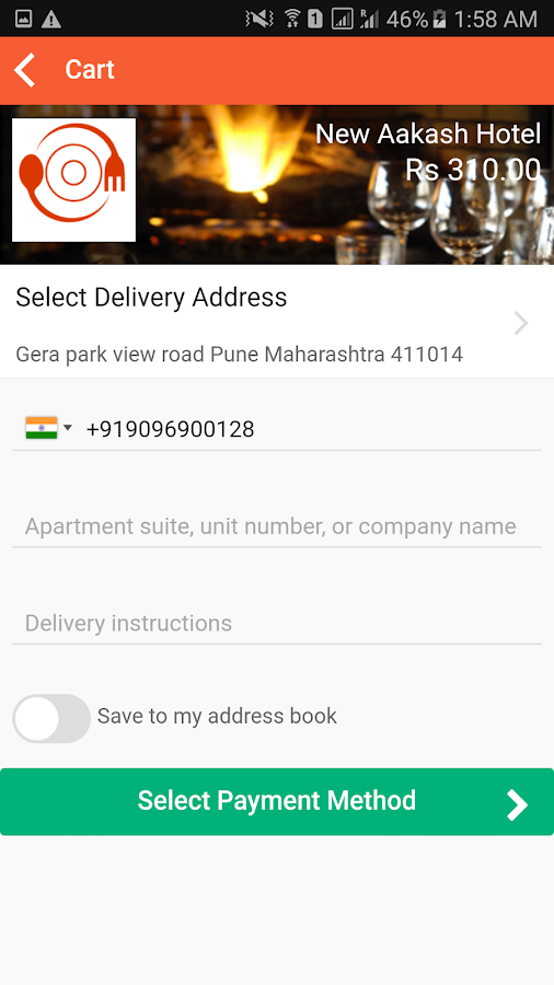Gingerplate - Food Ordering- screenshot