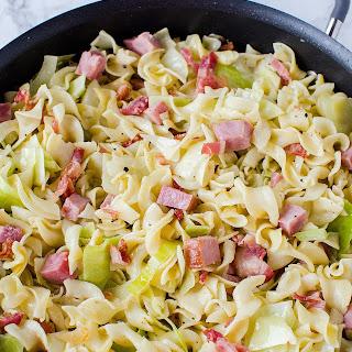Fried Cabbage, Ham & Noodles (Haluski) Recipe