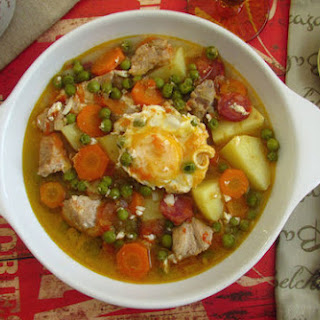 Stewed Pork with Potatoes and Poached Eggs Recipe