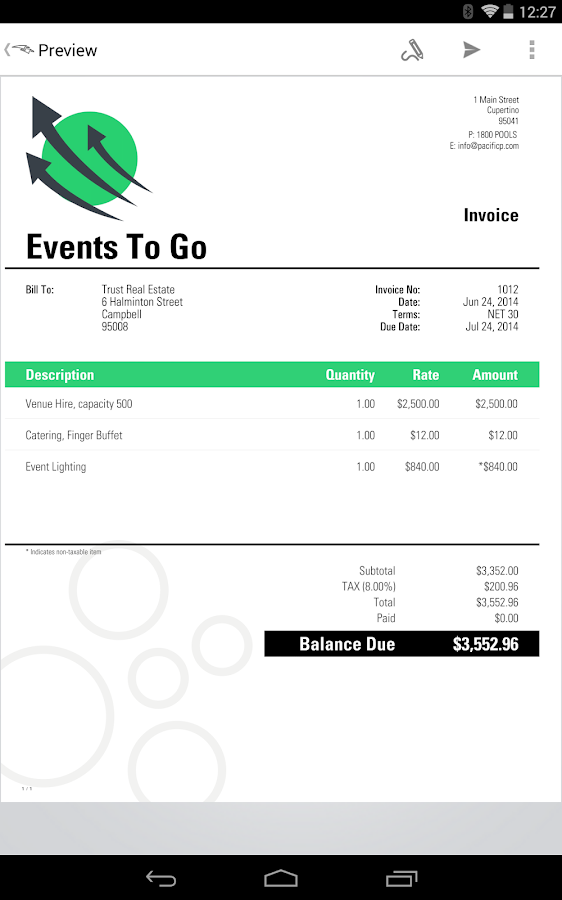 Opportunitycaus  Mesmerizing Invoice Amp Estimate Invoicego  Android Apps On Google Play With Inspiring Invoice Amp Estimate Invoicego Screenshot With Nice Invoice Received Also Commercial Shipping Invoice In Addition Invoice Expert Review And Ups Commercial Invoice Form As Well As Invoice Attached Additionally Adams Invoice Books From Playgooglecom With Opportunitycaus  Inspiring Invoice Amp Estimate Invoicego  Android Apps On Google Play With Nice Invoice Amp Estimate Invoicego Screenshot And Mesmerizing Invoice Received Also Commercial Shipping Invoice In Addition Invoice Expert Review From Playgooglecom