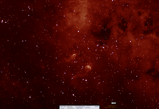 Photo: Tadpole nebula from last fall! False color in 7nm HydrogenAlpha from two nights in November.