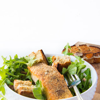 Salmon Salad with Grilled Cheese Croutons