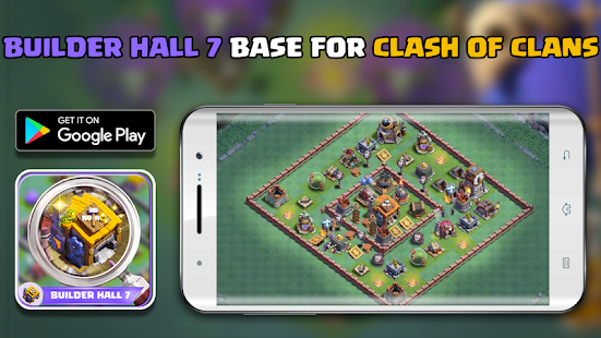 Builder hall 7 Base for Clash of clans 2017 - náhled