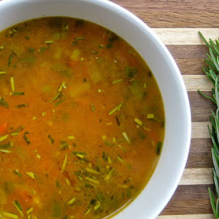 Cheeky 10 Minute Chickpea and Rosemary Soup