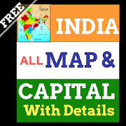 India Maps and Capitals With all details state,map
