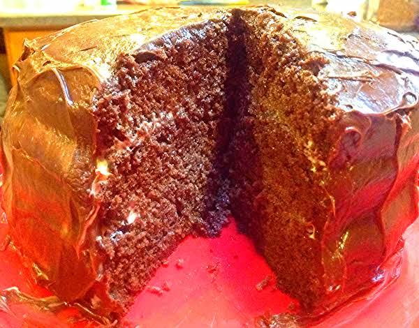 No Butter 3 Layer Chocolate Cake Recipe