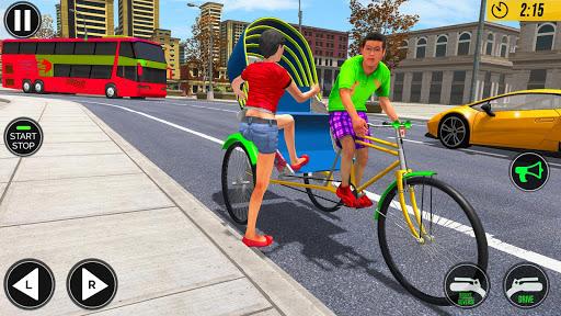 Bicycle Tuk Tuk Auto Rickshaw : New Driving Games screenshots 1