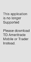 Screenshot of TD Ameritrade Mobile (old)