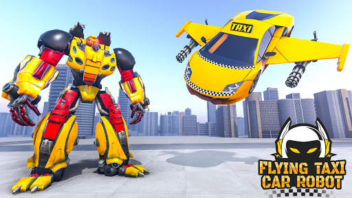 Flying Taxi Car Robot: Flying Car Games  screenshots 11