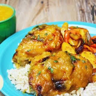Mango Habanero Glazed Chicken.