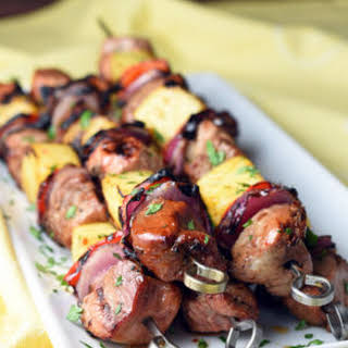 Grilled Teriyaki Pork Kabobs.