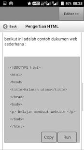 Belajar HTML5 - náhled