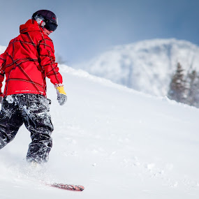 Red Boarder by Michael Spain - Sports & Fitness Snow Sports