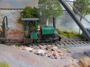 Photo: 017 A charming little box tank loco spotted on Tom Snook's 016.5 Stoney Middleton