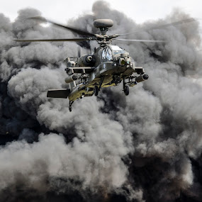 AH64 Apache by Brian Rogers - Transportation Helicopters ( gunship, flight, helecopters, apache, military )