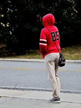 Photo: Number 85 is sporting a fashionable red hoodie and a waist length embroidered bag. #bagswednesday curated by +André Behrmann  +Michael Behrmann +Magda Sz +Magdalena MadZ and by +Nancy Battis Vita