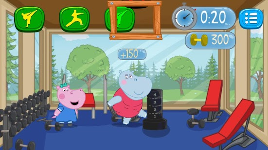 Baby Fitness Games: Hippo Trainer- screenshot thumbnail