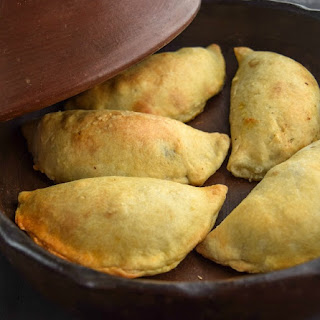 Traditional Chilean Pork Empanadas.